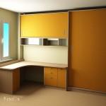 проект на детска стая с бюро