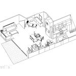 схема, разгъната на апартамент с обособени дневна, трапезария