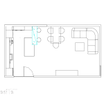 схема, помещения кухненски бокс, трапезария и всекидневна