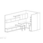 индивидуален проект, оригинални кухненски шкафове