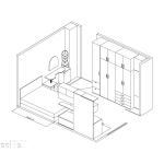 идеен проект, красита, спалня, гардероб