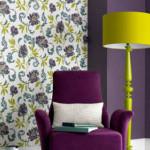 цветово съчетание лилаво и лимонено