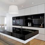 модерни мебели, черно и бяло