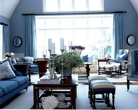- Pictures of blue and white living rooms ...