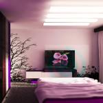 пурпурна идея за спалня