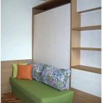компактна спалня, зелена